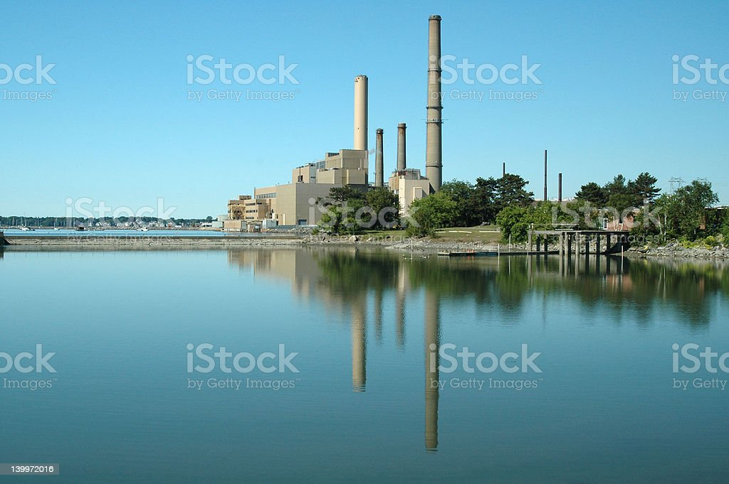 Salem Power Plant stock photo
