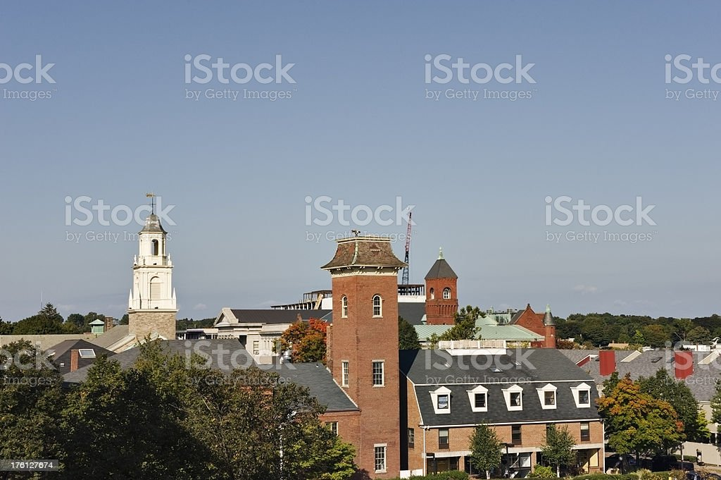 Salem roof tops and church royalty-free stock photo