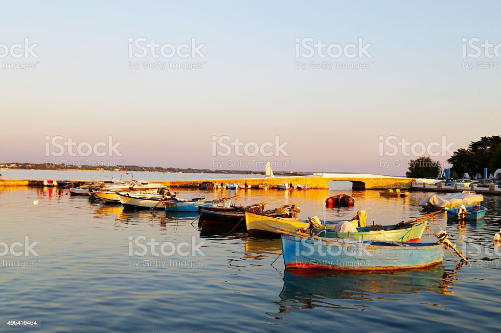 Salento - Barche (Porto Cesareo) royalty-free stock photo