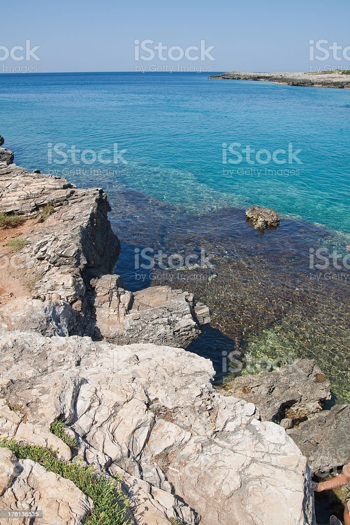 Salento coastline Seascape royalty-free stock photo