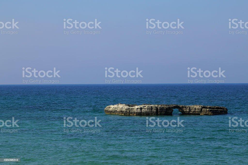 Salento - Lo scoglio solitario (Roca Vecchia) royalty-free stock photo