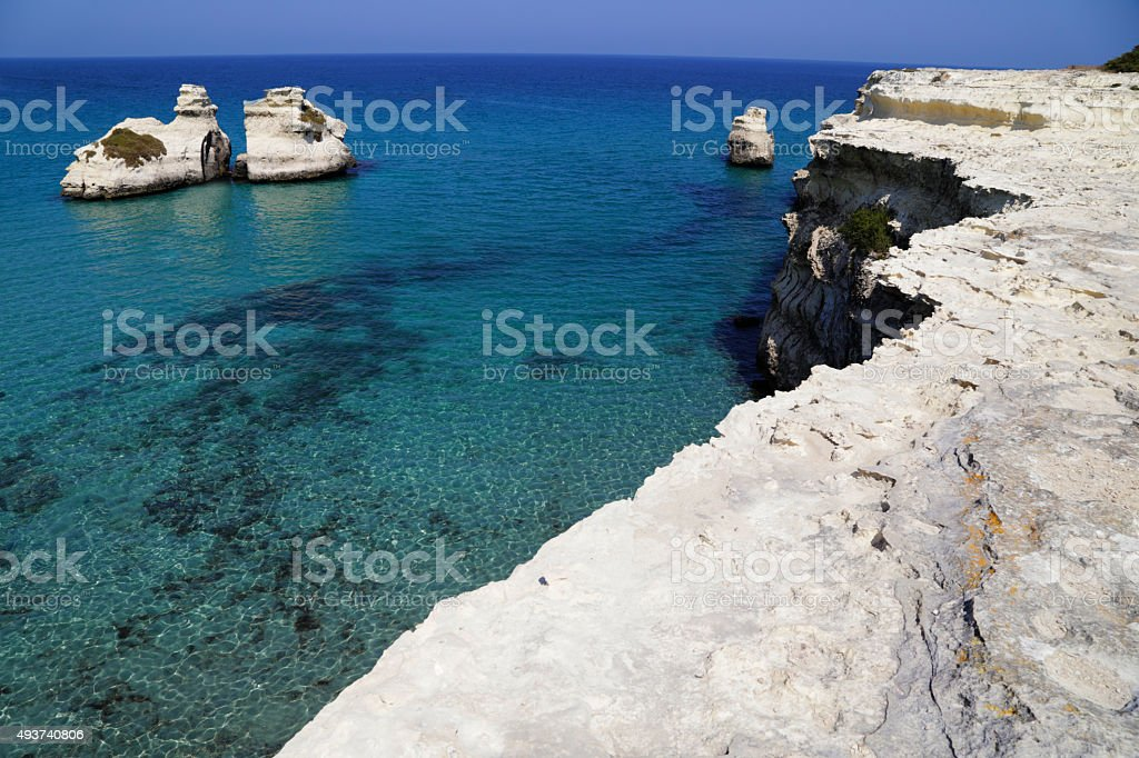 Salento - Le due Sorelle (Torre dell'orso) royalty-free stock photo