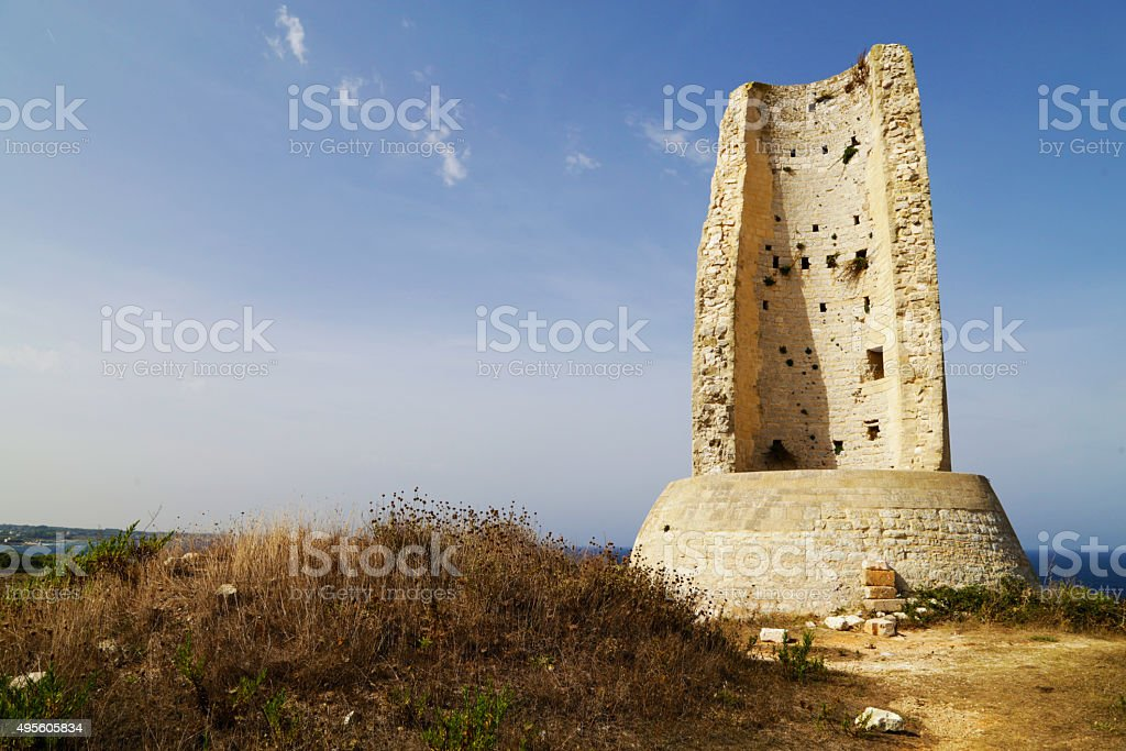 Salento - Torre della serpe,Capo d'Otranto (Otranto) royalty-free stock photo