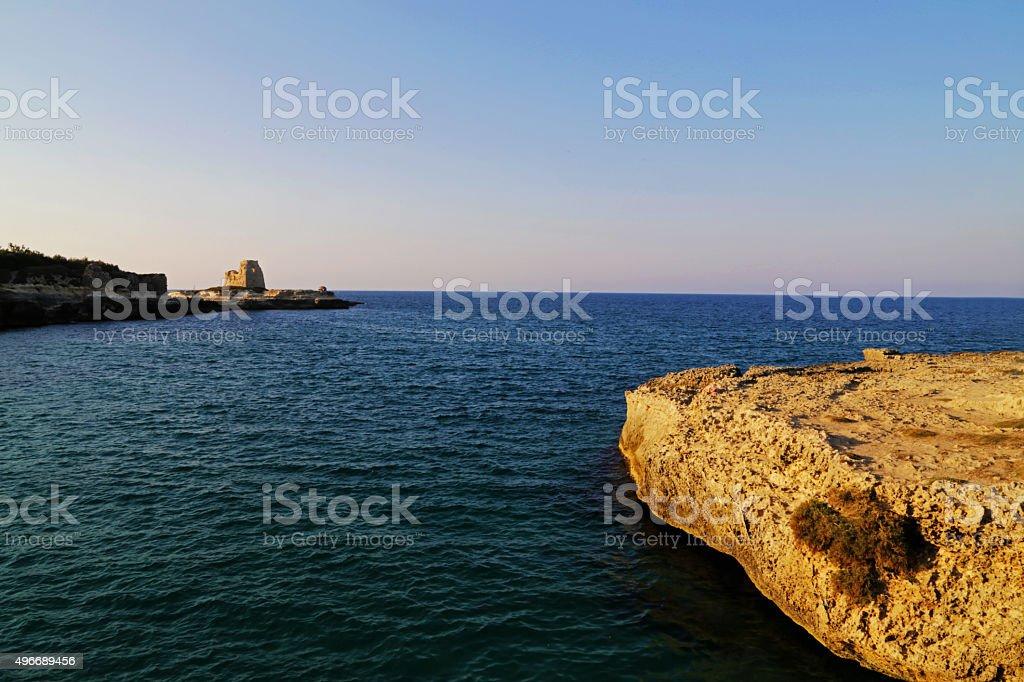 Salento - Torre Vecchia (Roca Vecchia) royalty-free stock photo