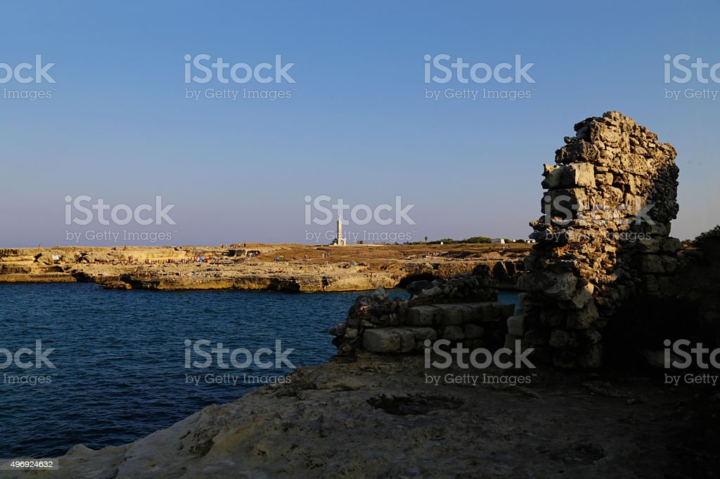 Salento - Torre Vecchia (Roca Vecchia) royalty-free stock photo