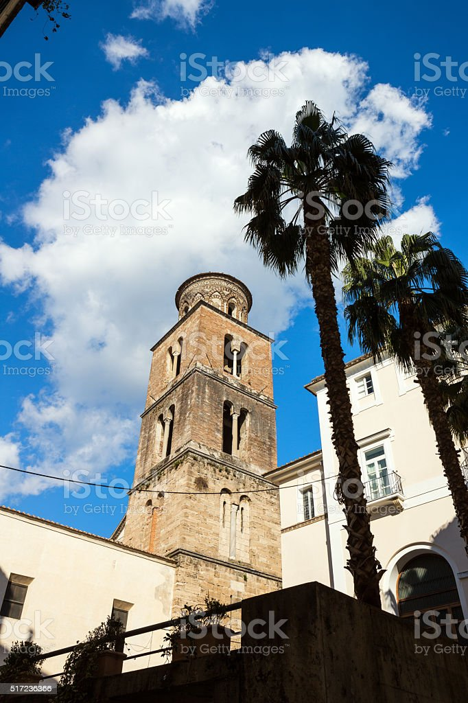 Salerno Cathedral bell tower, Campania Italy stock photo