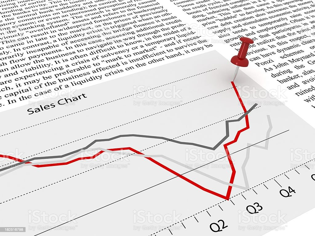 Sales Chart Analysis royalty-free stock photo