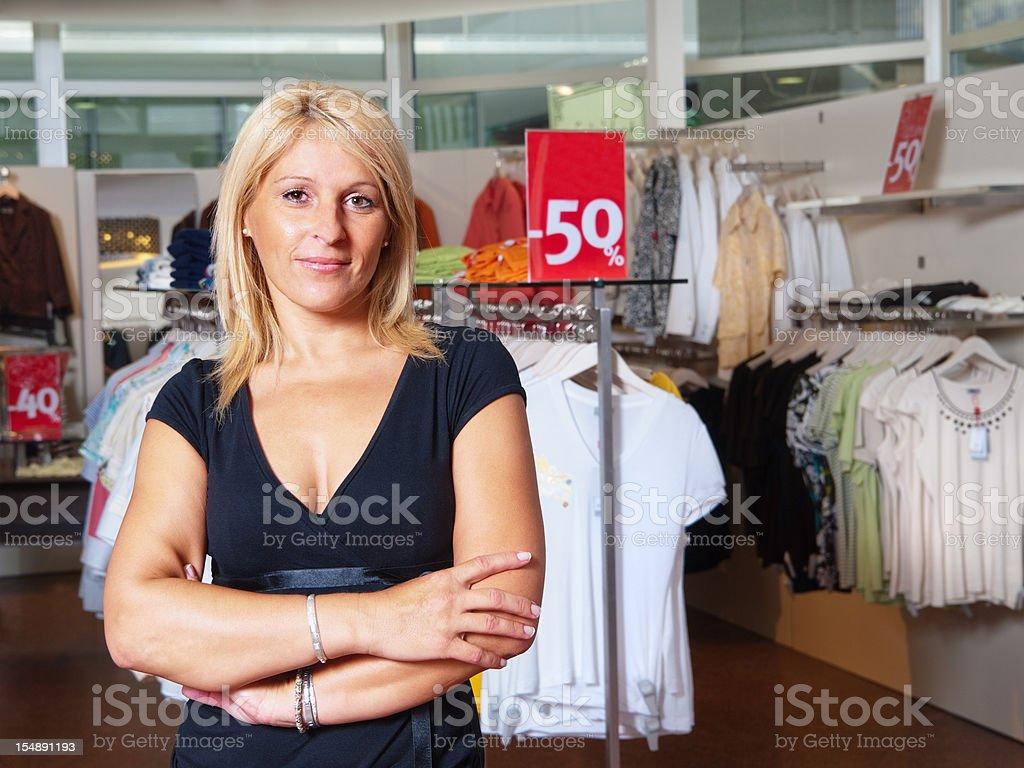 Sales clerk royalty-free stock photo