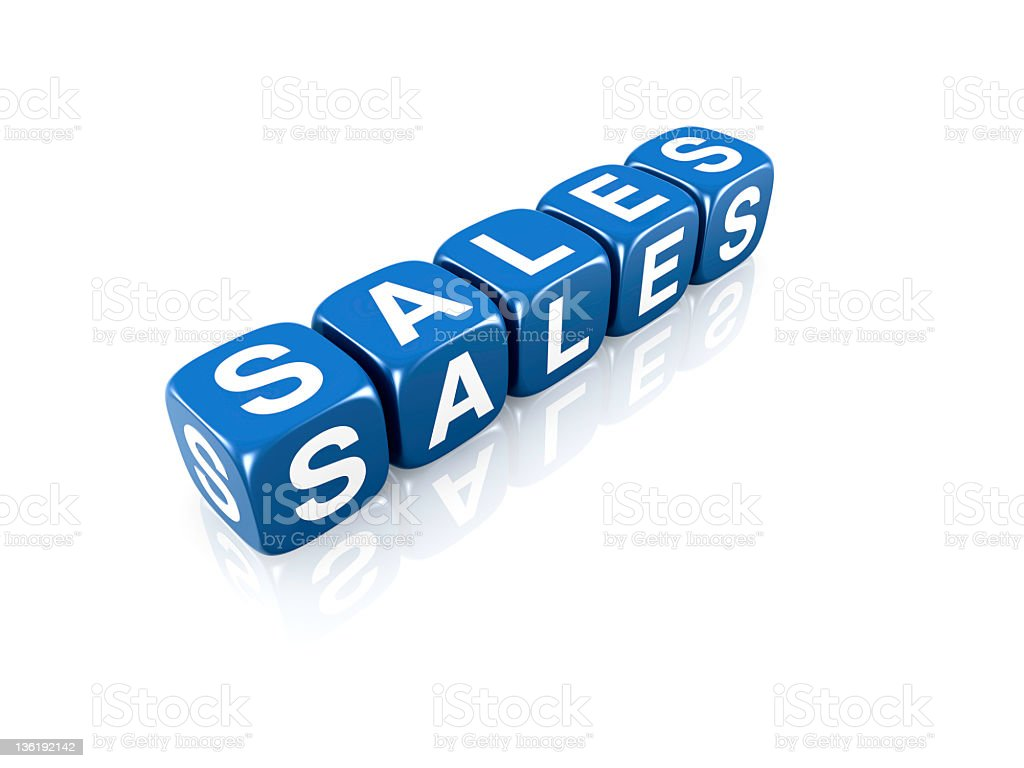 Sales concept royalty-free stock photo