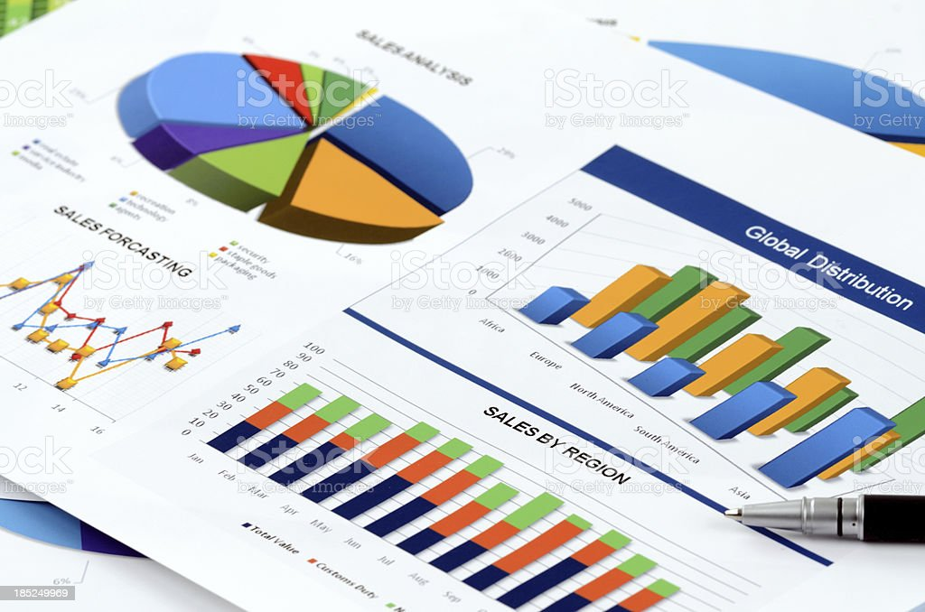 Sales data analyzing royalty-free stock photo