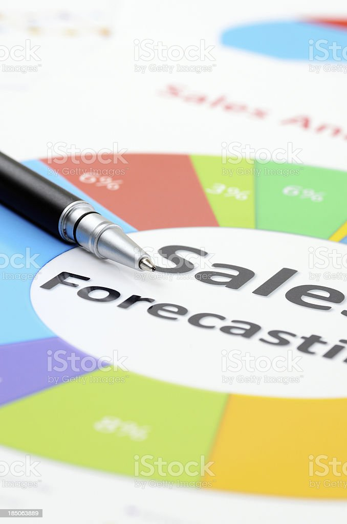 Sales forecasting report royalty-free stock photo