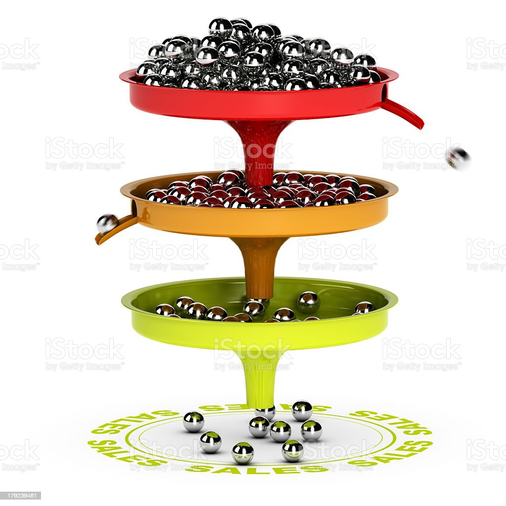 Sales Funnel, Ecommerce Conversion Rate stock photo