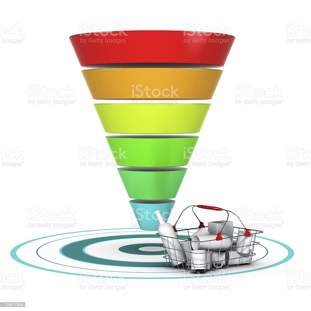 Sales funnel. Marketing or Business Chart stock photo