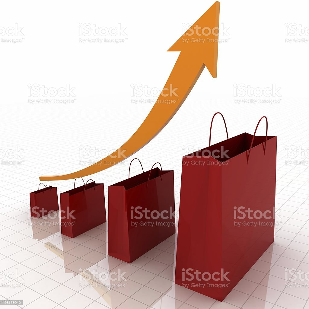 Sales Growth Chart royalty-free stock photo