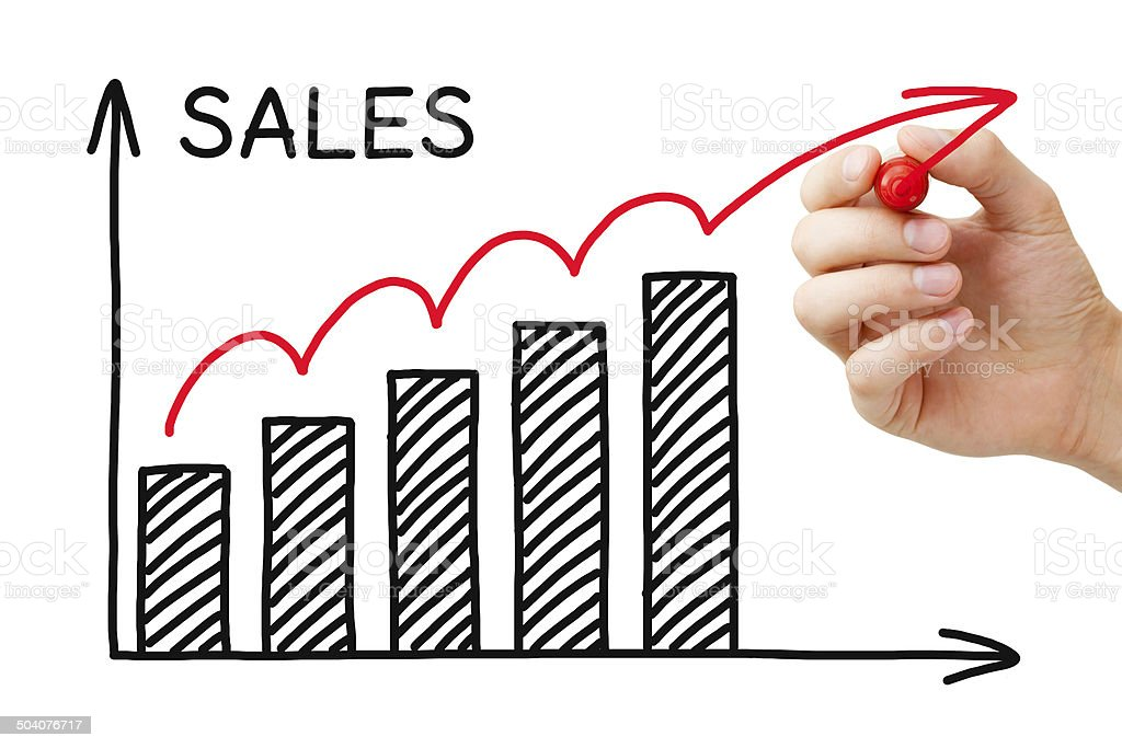 Sales Growth Graph stock photo