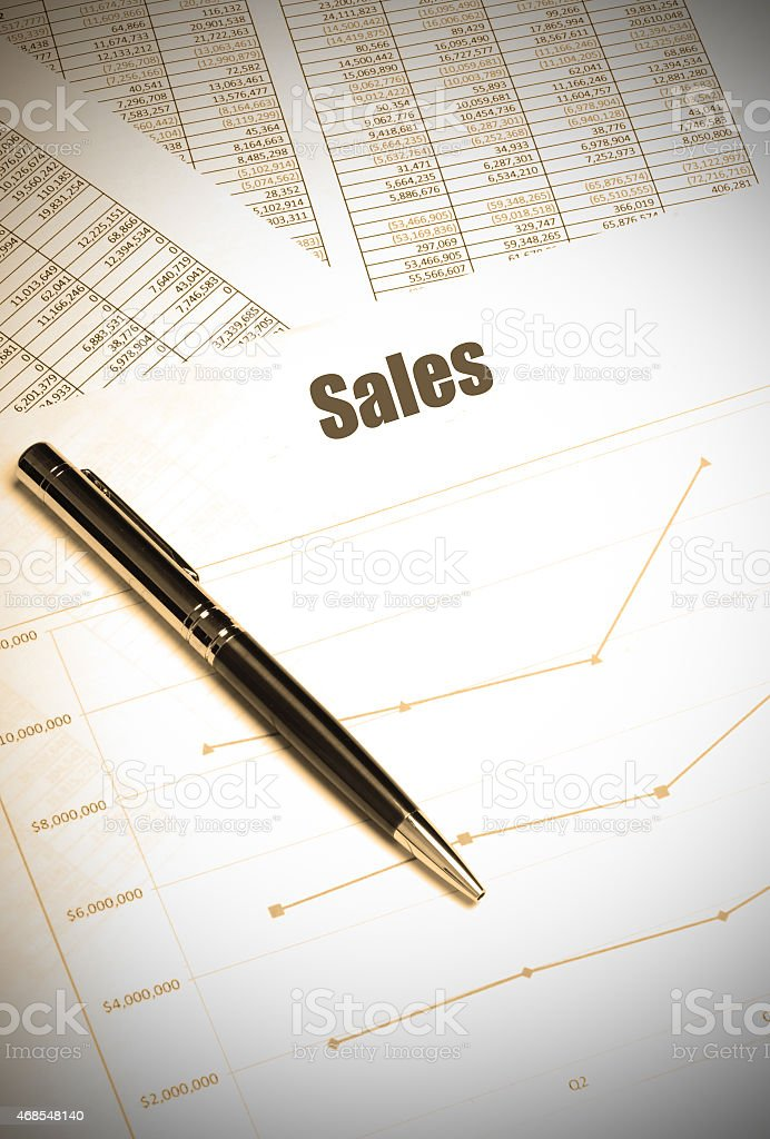 sales growth report stock photo