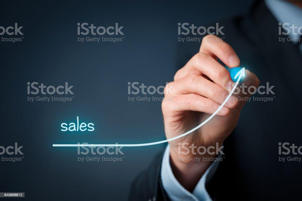 Sales imporvement stock photo