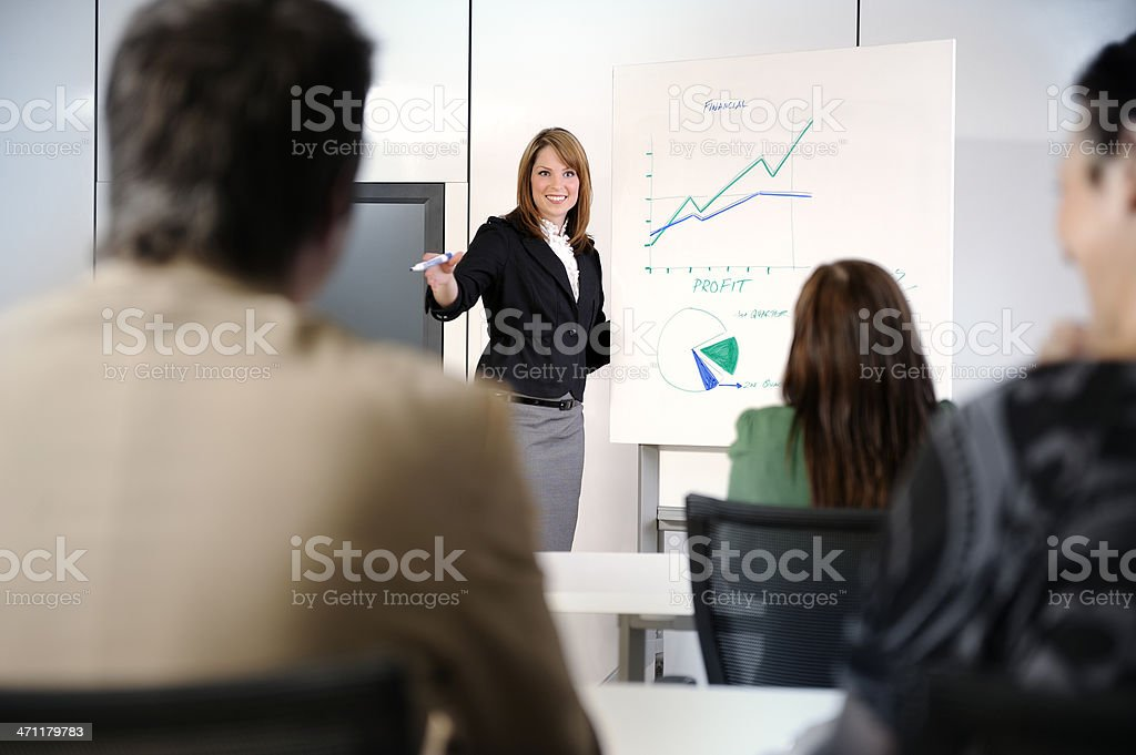 sales meeting stock photo
