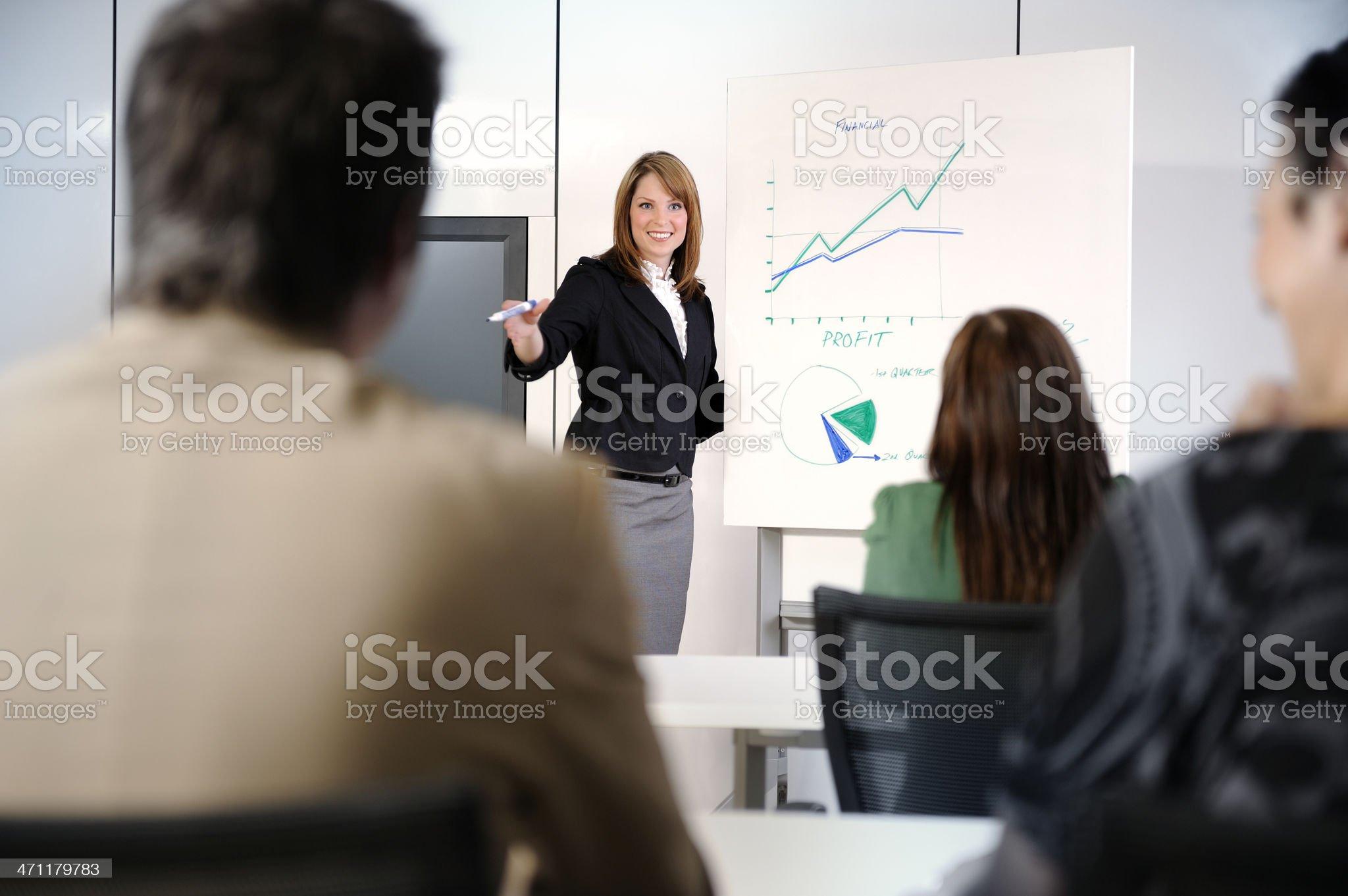 sales meeting royalty-free stock photo
