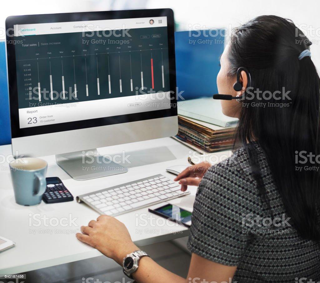 Sales Order Dashboard Statistics Concept stock photo