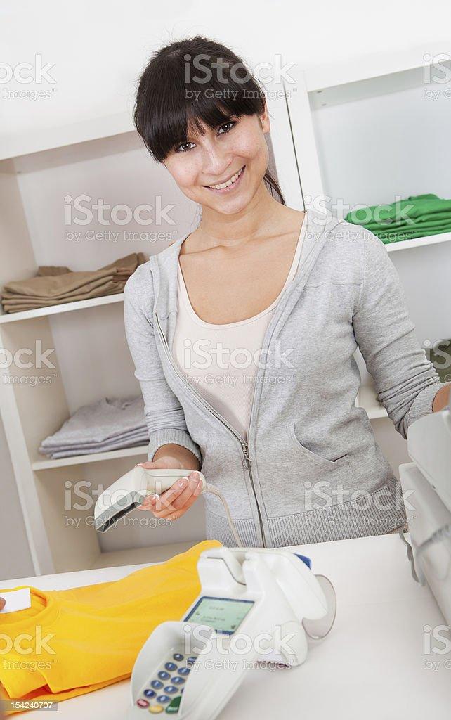 Representante de ventas en la tienda - foto de stock