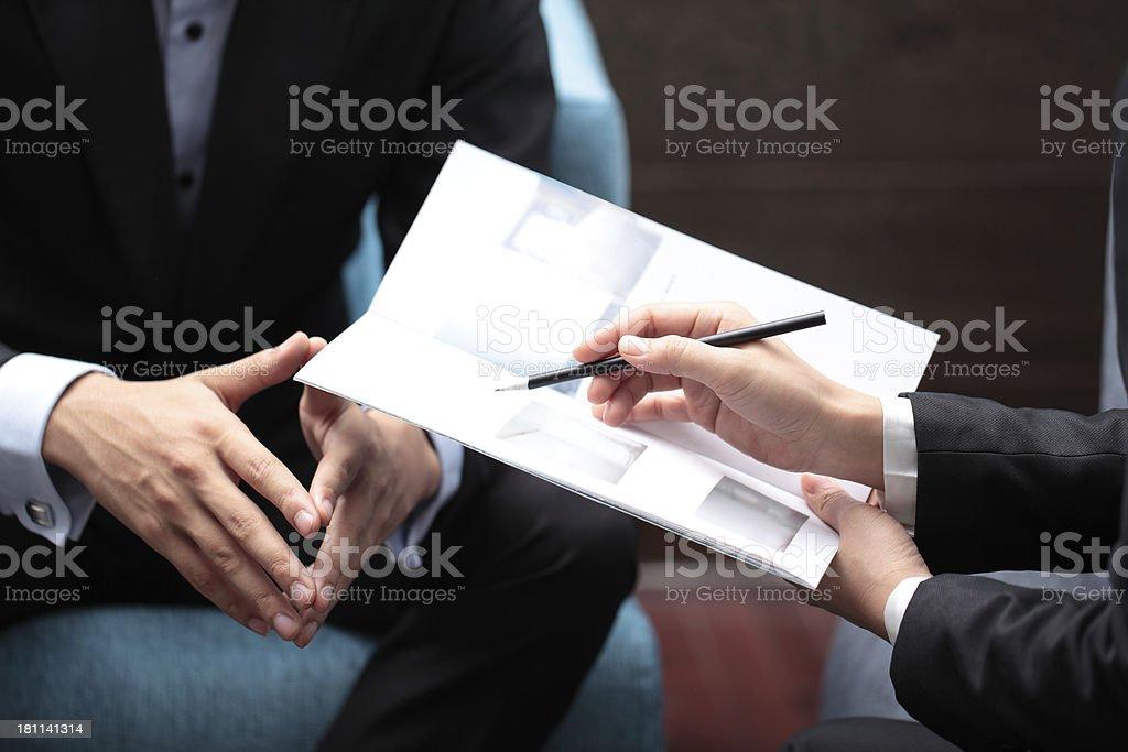 Sales Pitch stock photo