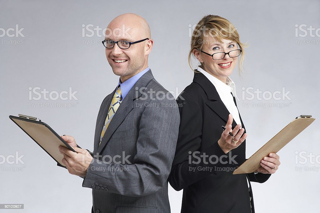 sales presentation or public-opinion poll royalty-free stock photo