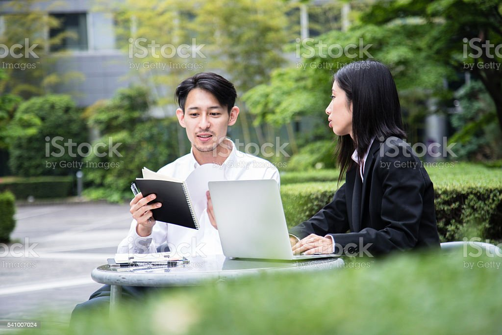 Sales Professionals at work. stock photo