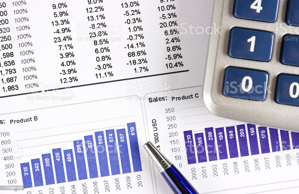 Sales progress report royalty-free stock photo