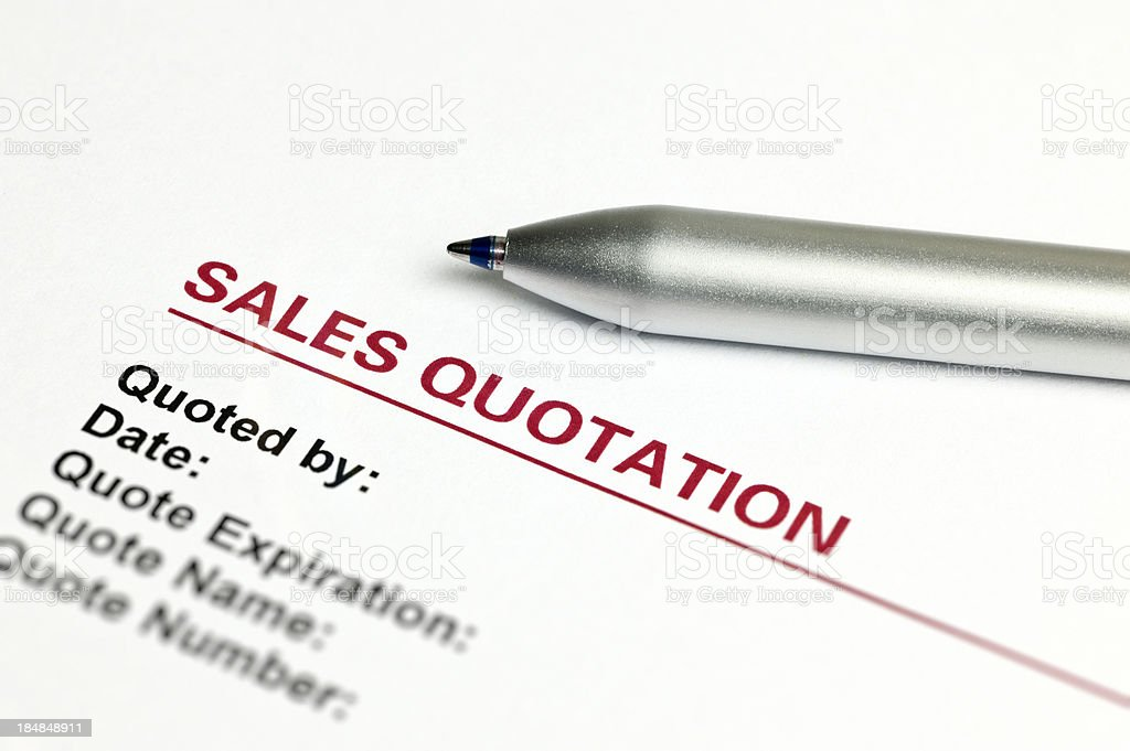 Sales Quotation royalty-free stock photo