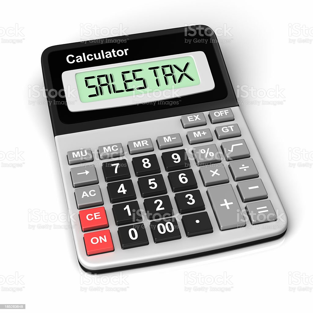 Sales tax Calculating royalty-free stock photo