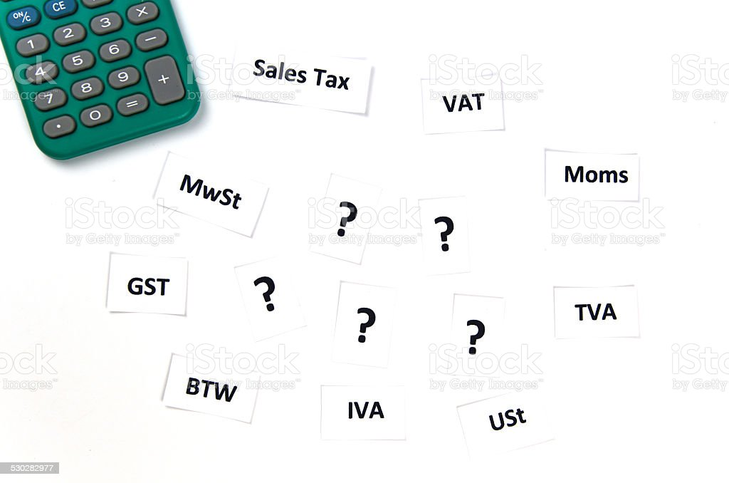 Sales Taxes Confusion stock photo