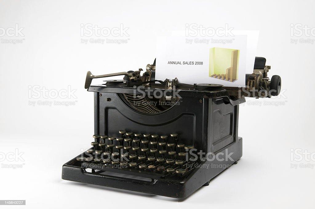 Sales Typewriter royalty-free stock photo
