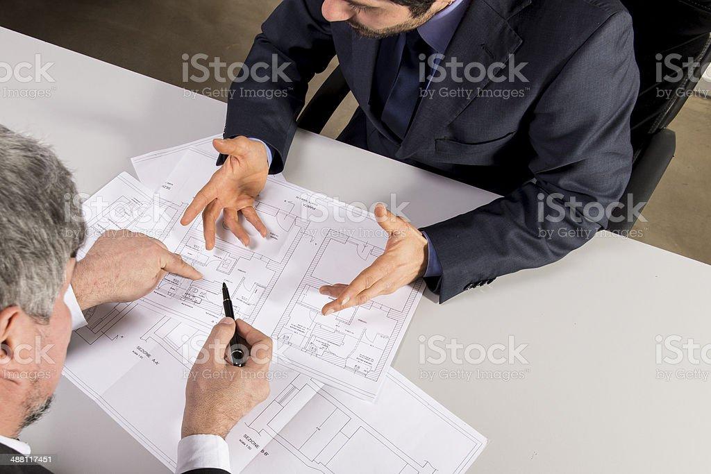 Salesman and customer stock photo