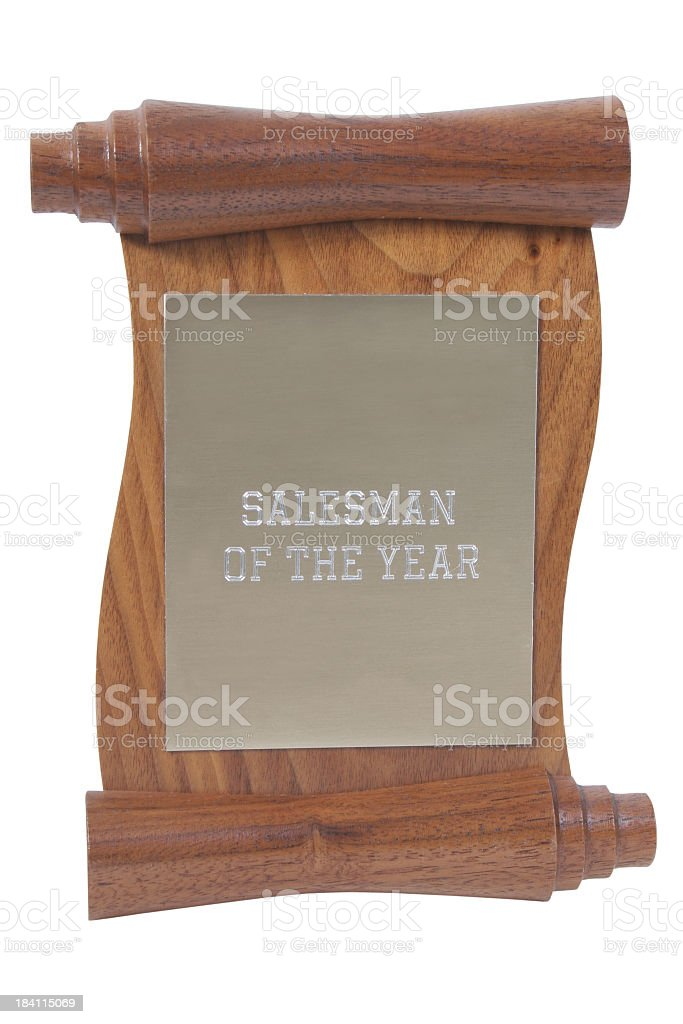 Salesman of the year stock photo