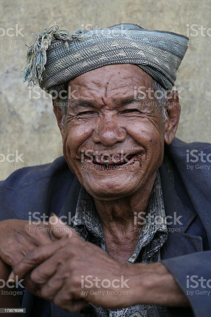 Salesman on the market royalty-free stock photo