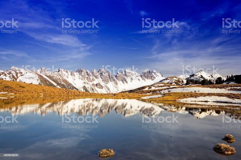 Salfein sea in Innsbruck Tirol stock photo