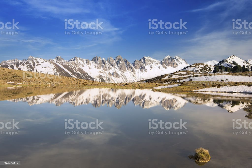Salfein sea in Innsbruck Tirol stock photo