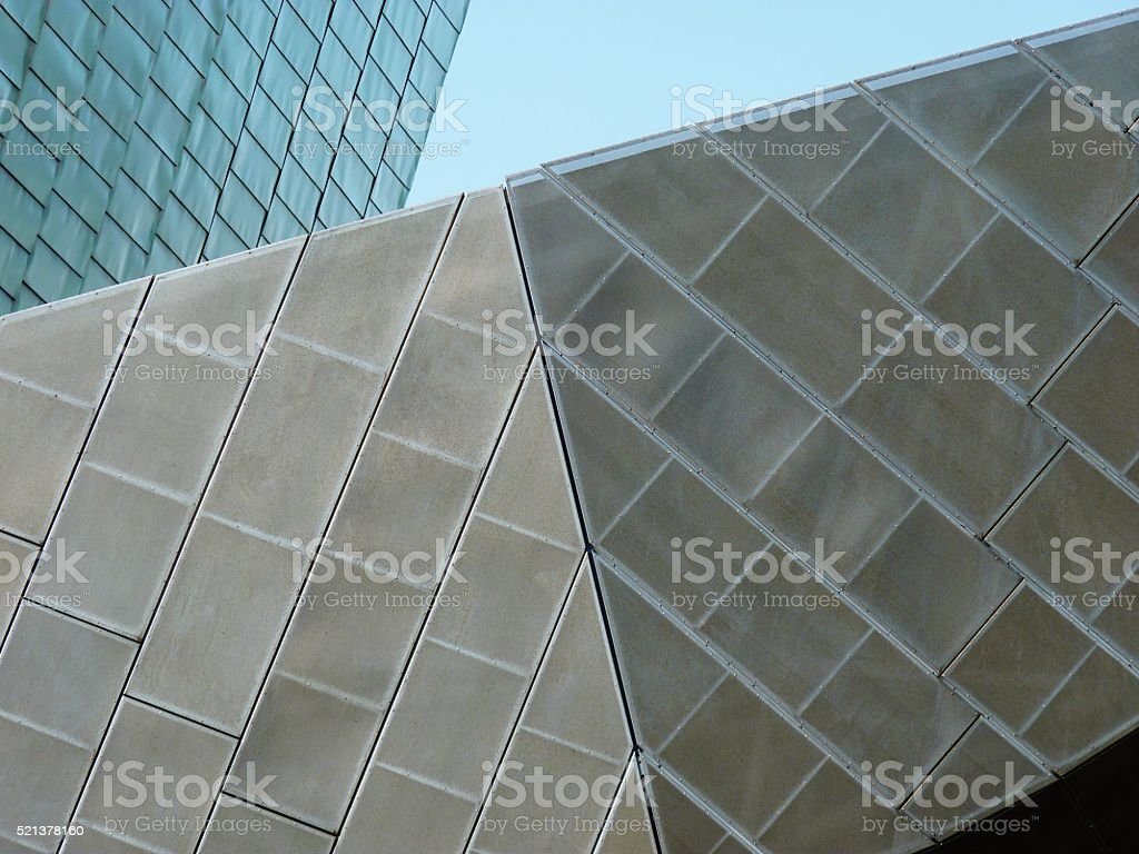 salford building detail media city manchester stock photo