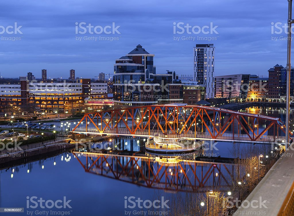 Salford Quays Aerial View stock photo