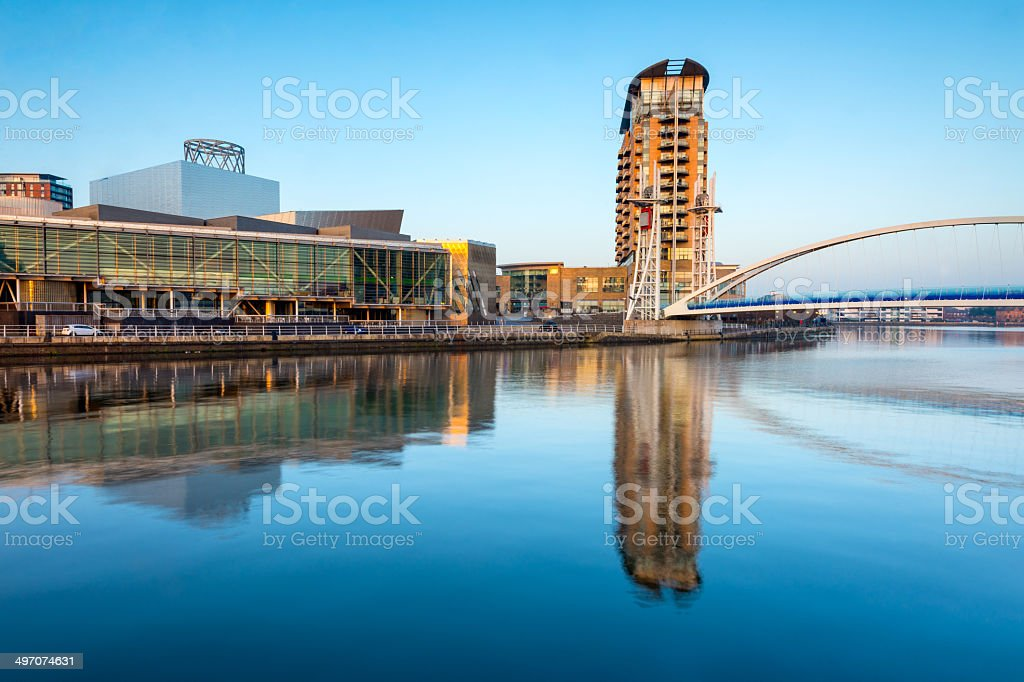 Salford Quays, Manchester, England royalty-free stock photo