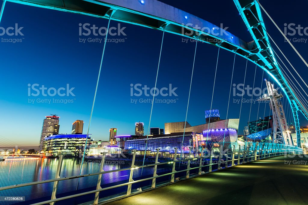 Salford Quays, Manchester, England, UK. stock photo