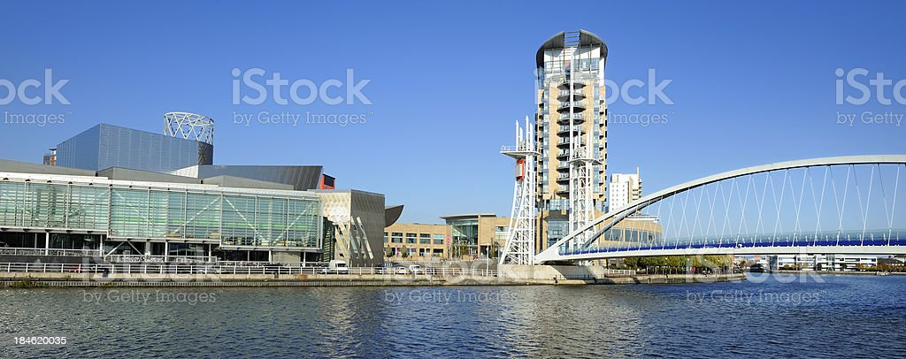 Salford Quays, Manchester stock photo