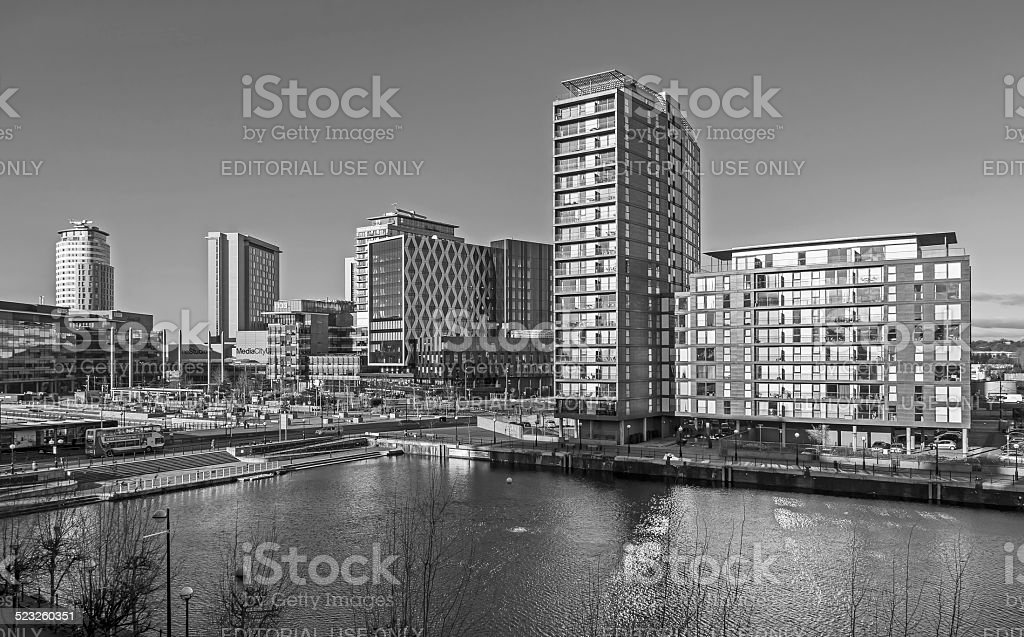 Salford Quays Manchester stock photo