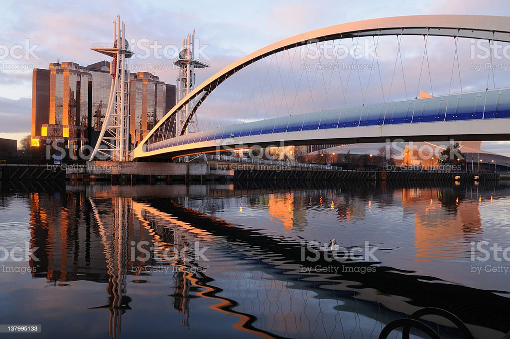 Salford Quays royalty-free stock photo