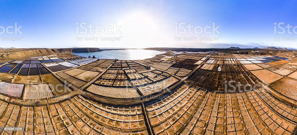 salinas de janubio lanzarote canarias canary islands salt stock photo