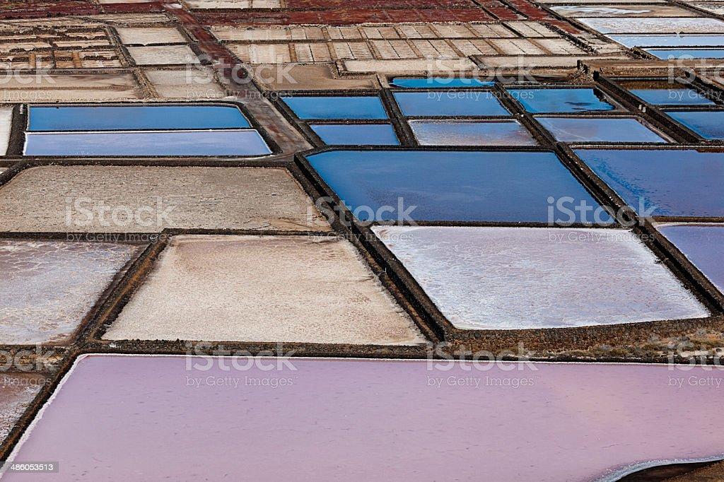salinas de janubio, lanzarote stock photo
