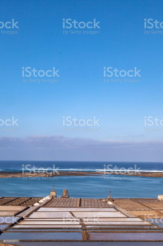 salinas de Janubio stock photo