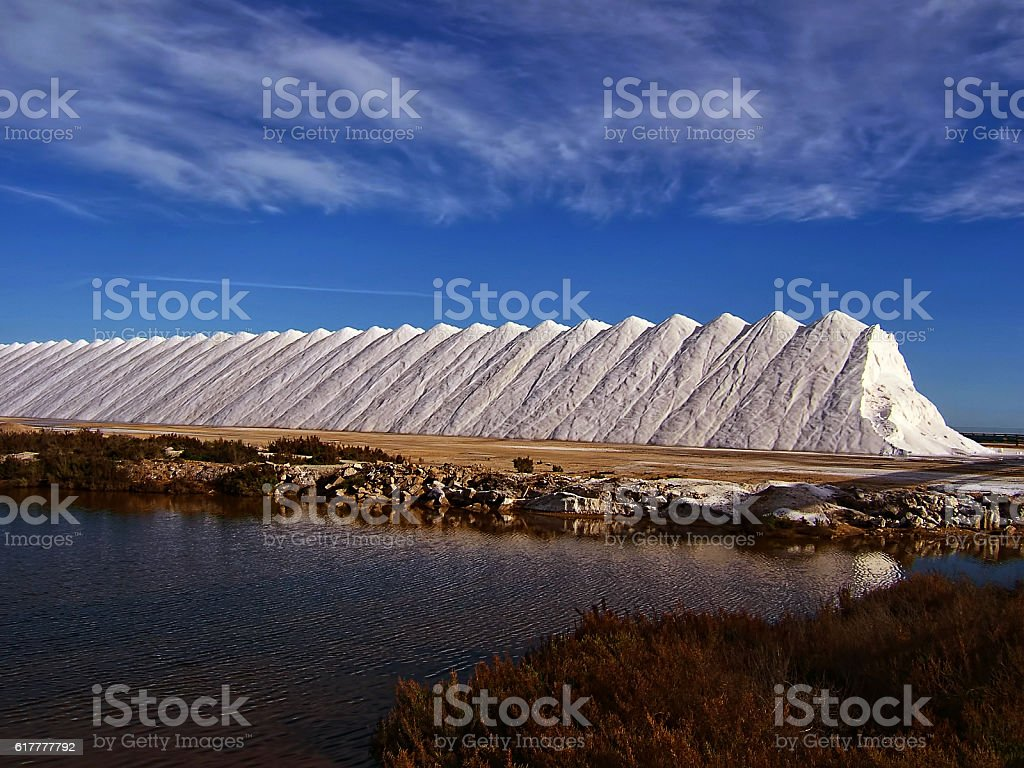 Salinas de Santa Pola - Alicante stock photo