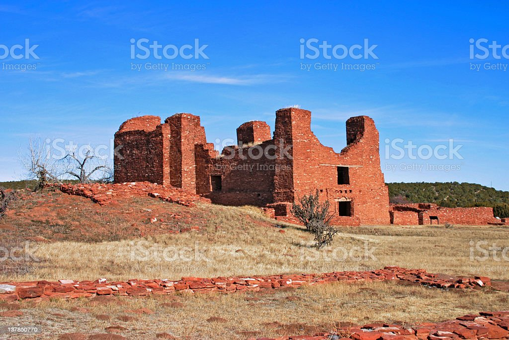 Salinas Pueblo Missions National Monument stock photo